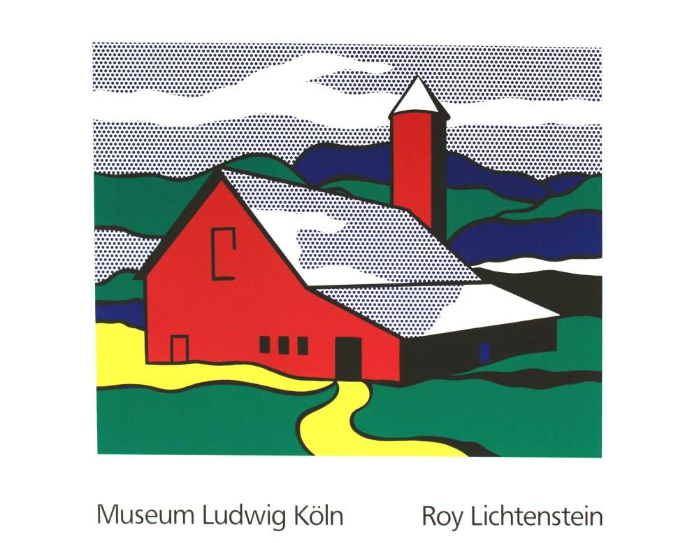 ROY LICHTENSTEIN - Red Barn II - Color silkscreen