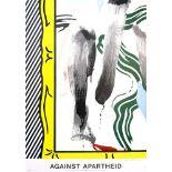 ROY LICHTENSTEIN - Against Apartheid - Color offset lithograph poster
