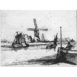 REMBRANDT (REMBRANDT HARMENSZ VAN RIJN) [d'apres] - The Angler in a Boat - Etching