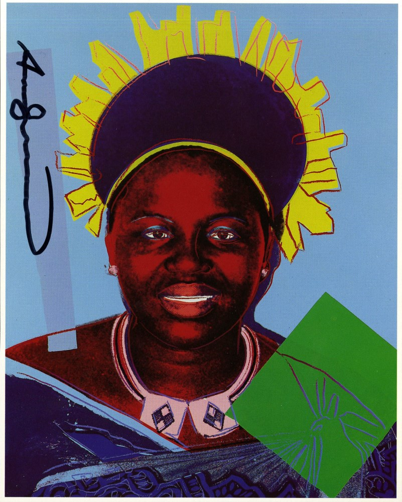 ANDY WARHOL - Queen Notombi (#2) - Color offset lithograph