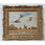 FRANK W. BENSON [imputee] - A Brood of Pheasants - Oil on board
