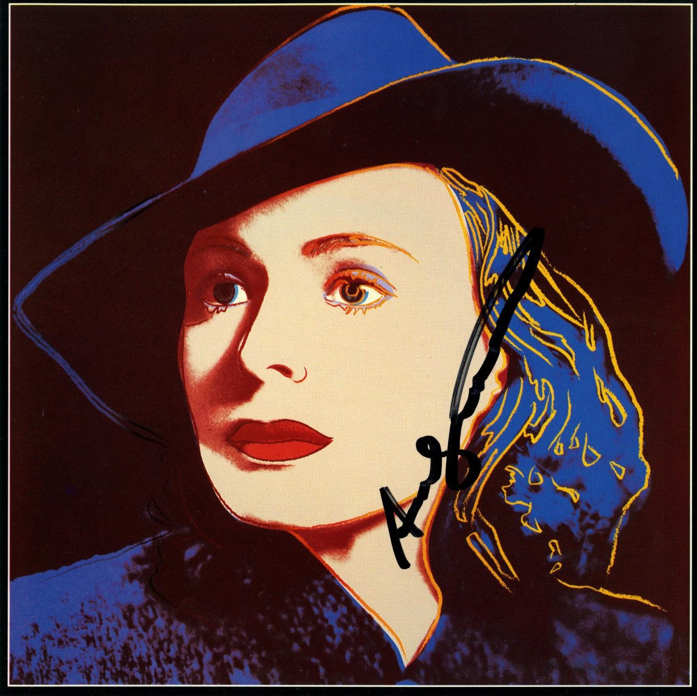 ANDY WARHOL - Ingrid Bergman: With Hat (09) - Color offset lithograph