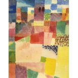 "PAUL KLEE - Hamammet Theme [""Motiv aus Hamammet""] - Original color collotype"
