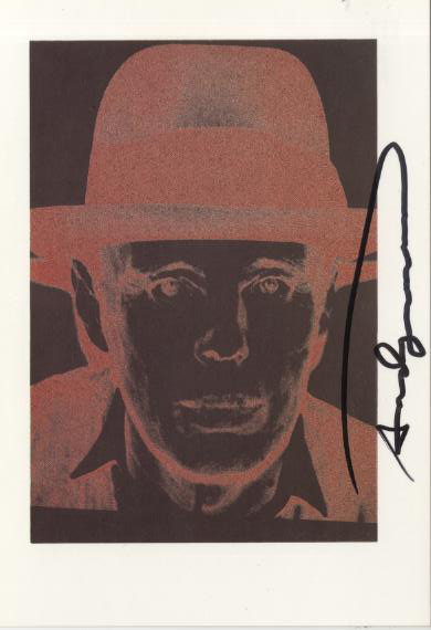 ANDY WARHOL - Joseph Beuys - Color offset lithograph