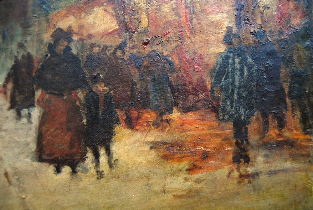 EDOUARD CORTES [d'apres] - Parisian View - Oil on canvas - Image 4 of 10