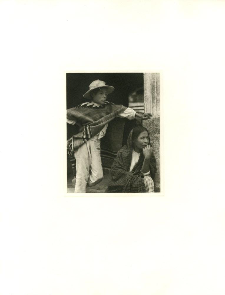 PAUL STRAND - Woman and Boy, Tenancingo - Original photogravure - Image 2 of 2