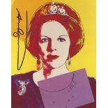 ANDY WARHOL - Queen Beatrix (#4) - Color offset lithograph