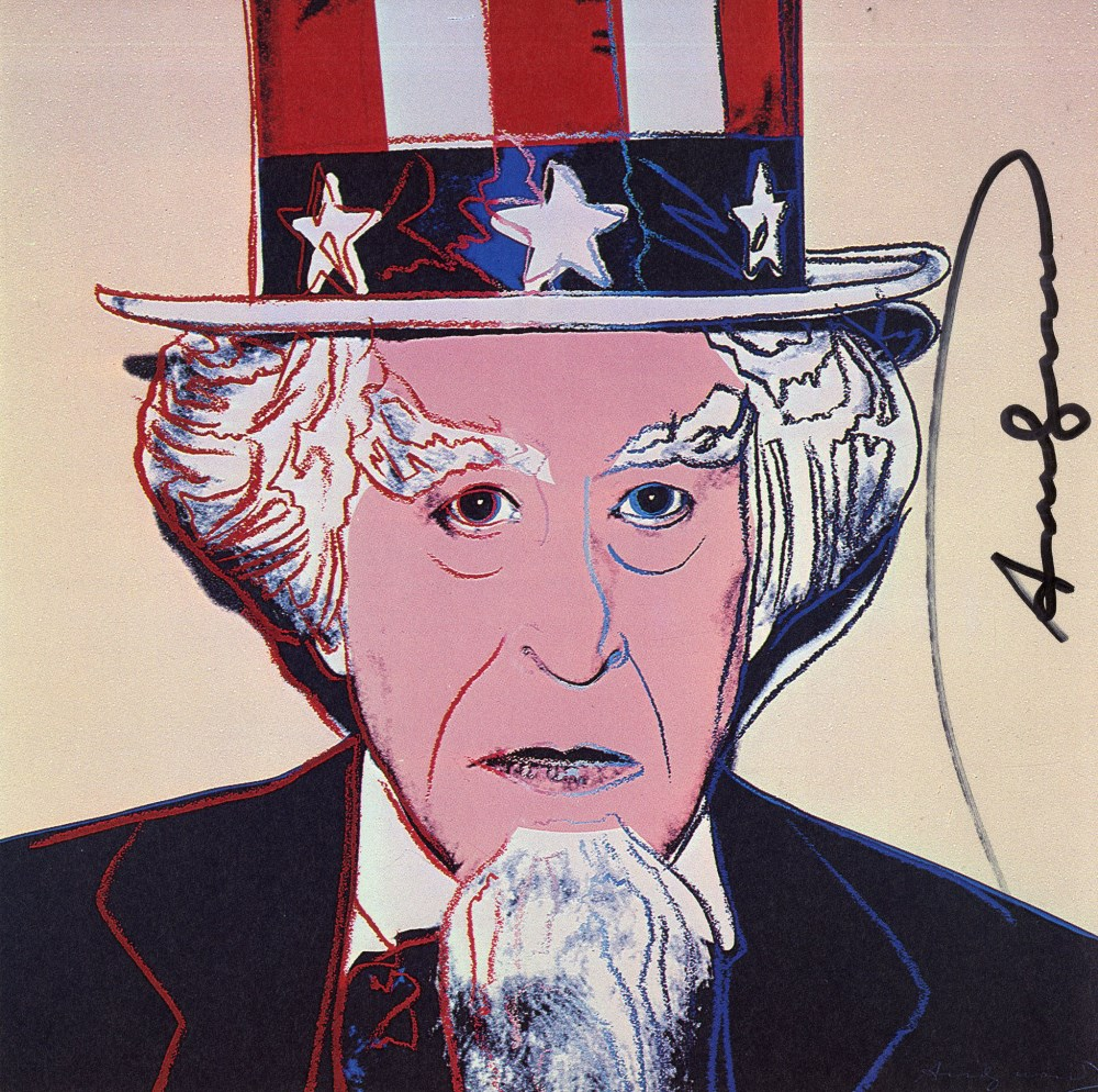 ANDY WARHOL - Uncle Sam - Color offset lithograph