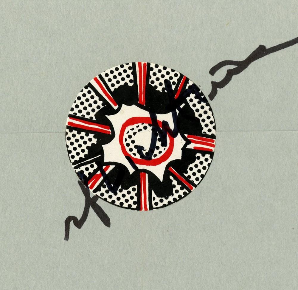 ROY LICHTENSTEIN - Pop Art One - Color offset lithograph