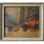 EDOUARD CORTES [d'apres] - Parisian View - Oil on canvas