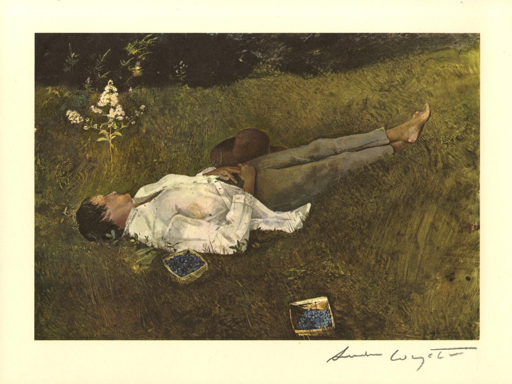 ANDREW WYETH - The Berry Picker - Color offset lithograph