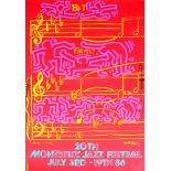 ANDY WARHOL & KEITH HARING - 20th Montreux Jazz Festival - Original color silkscreen