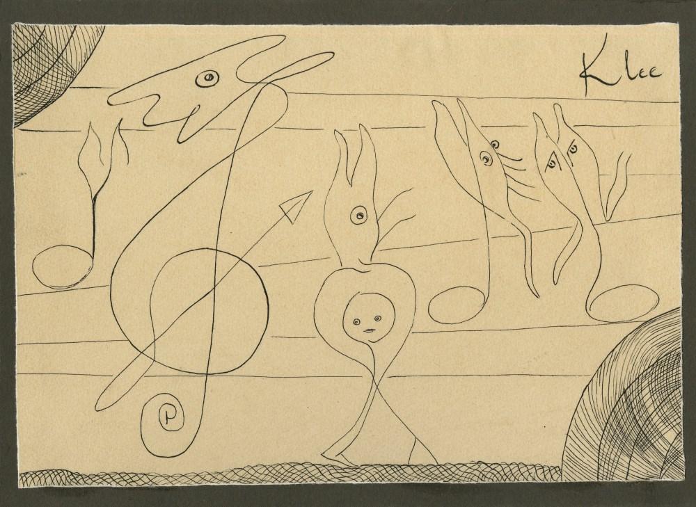 PAUL KLEE [imputee] - Abstrakte zeichnung - Ink on paper