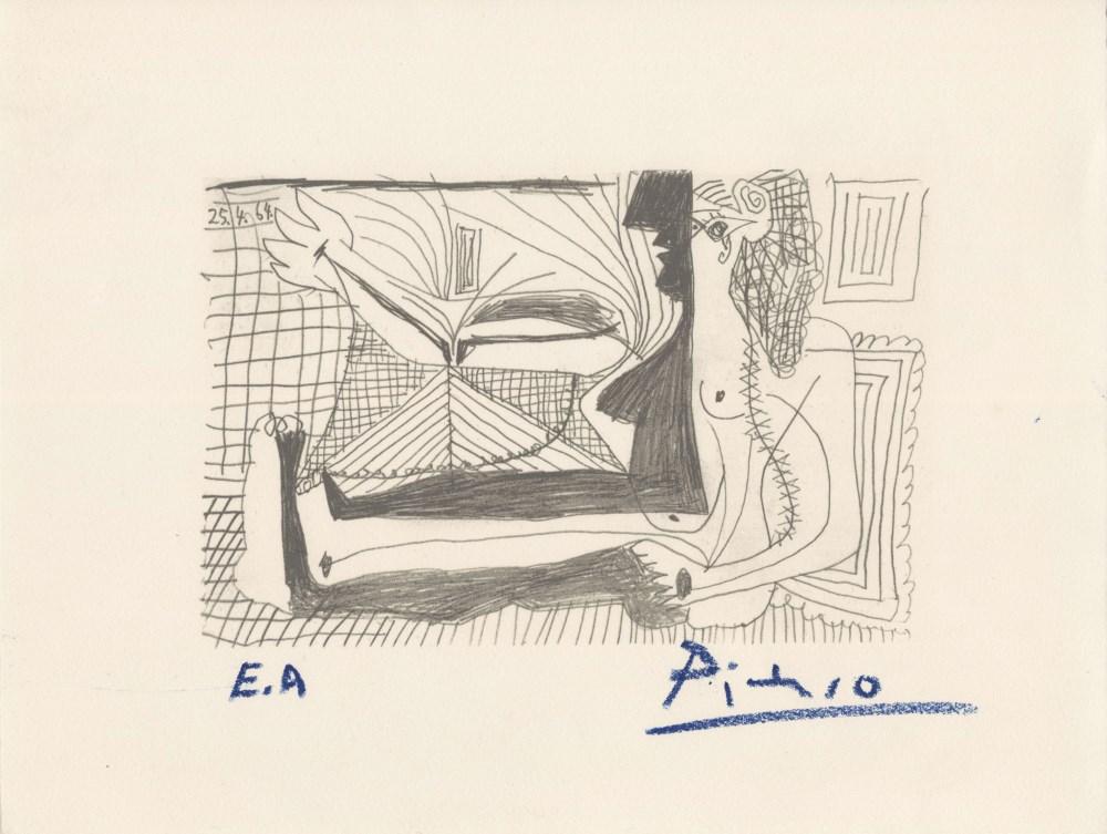 PABLO PICASSO [d'apres] - April 25, 1964 - Original silkscreen & lithograph