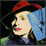 ANDY WARHOL - Ingrid Bergman: With Hat (07) - Color offset lithograph