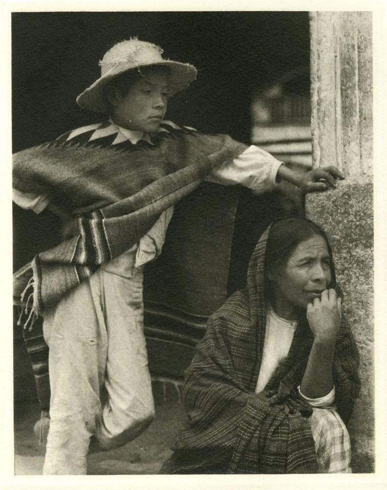 PAUL STRAND - Woman and Boy, Tenancingo - Original photogravure