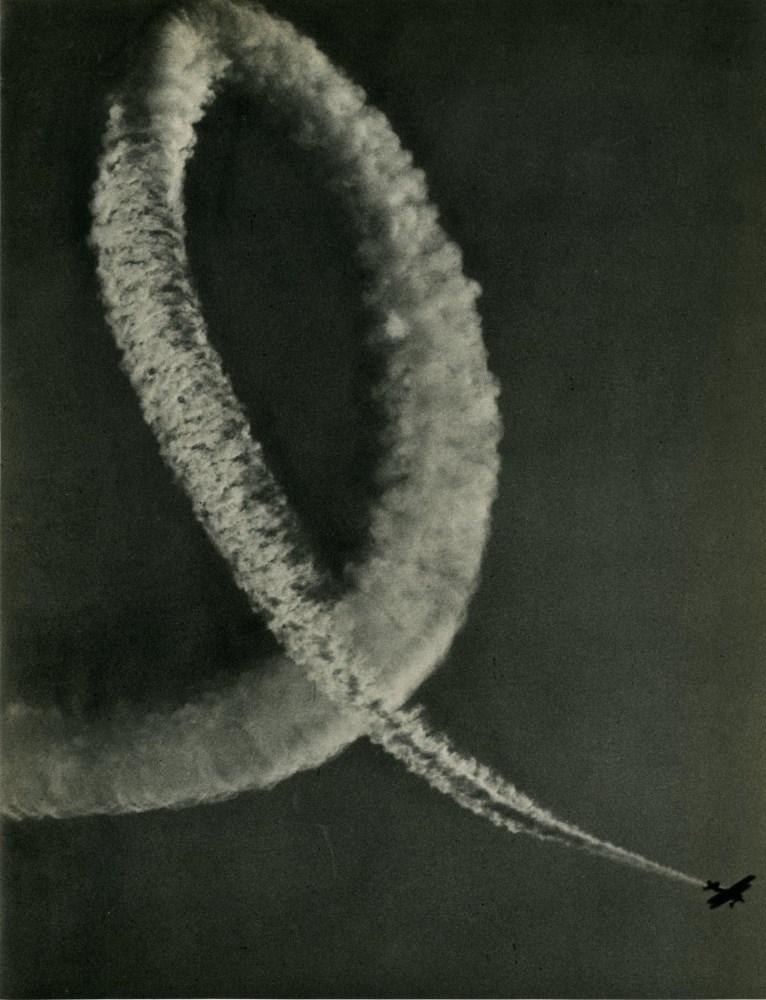 R. OWEN SCHRADER - Aerial Acrobatics - Original vintage photogravure