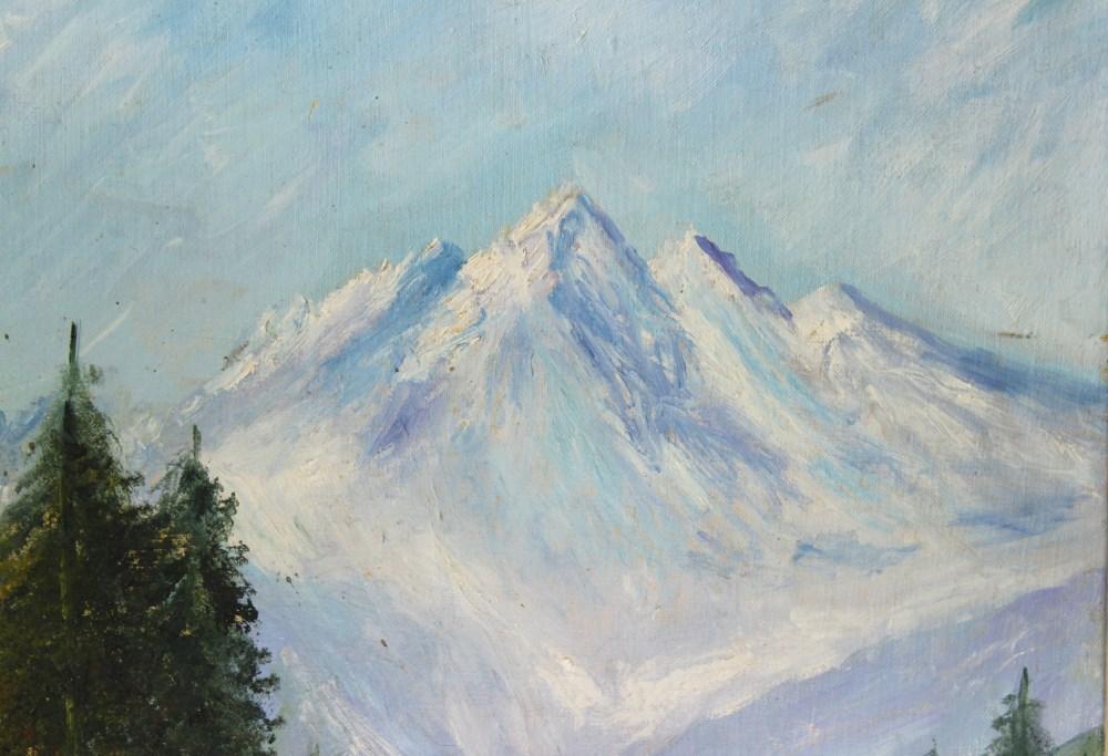 WINSTON S. CHURCHILL [imputee] - Four Peaks - Oil on canvas - Image 5 of 5