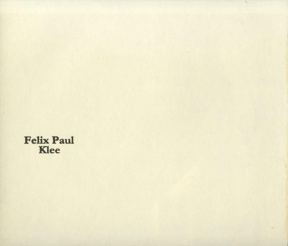 "PAUL KLEE - Before the Snows [""Vor dem Schnee""] - Original color collotype - Image 2 of 2"