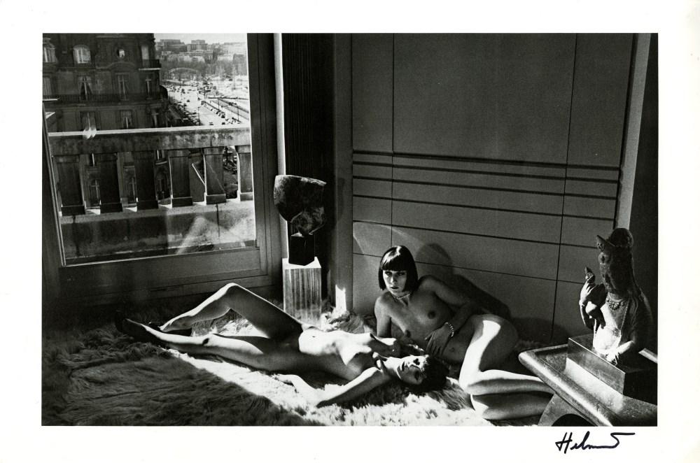 HELMUT NEWTON - Mannequins Reclining - Original vintage photolithograph