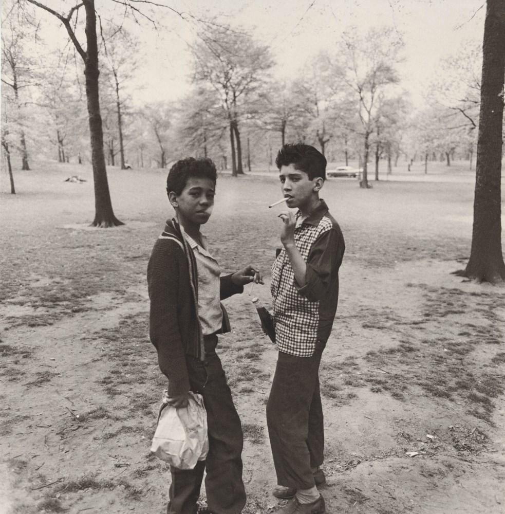 DIANE ARBUS - Two Boys Smoking in Central Park, N.Y.C - Original photogravure