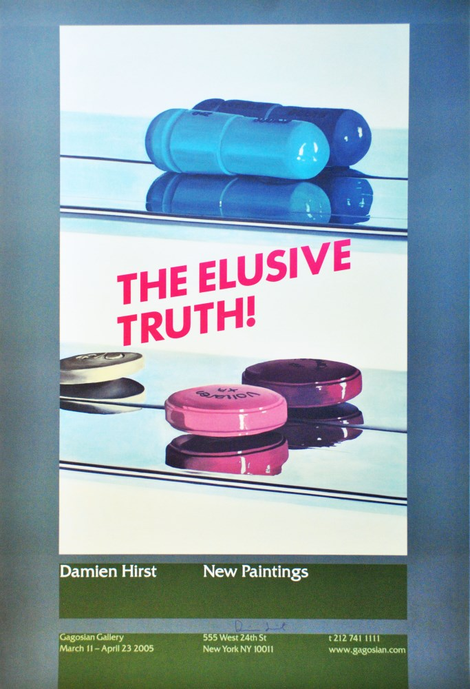 DAMIEN HIRST - The Elusive Truth - Two Pills - Color offset lithograph