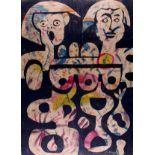 KARIMA MUYAES - Amantes Azules - Color stencil monoprint