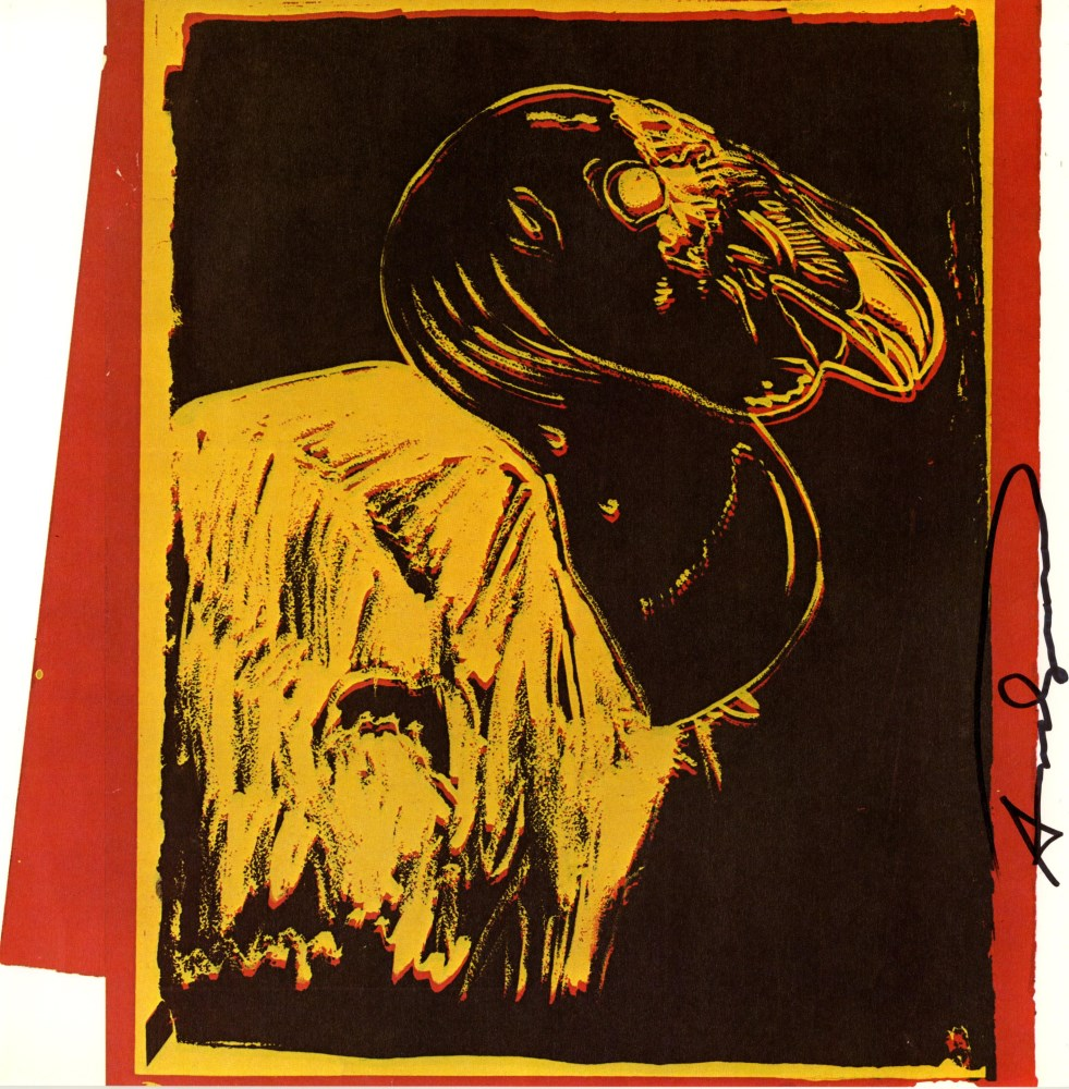 ANDY WARHOL - California Condor - Color offset lithograph