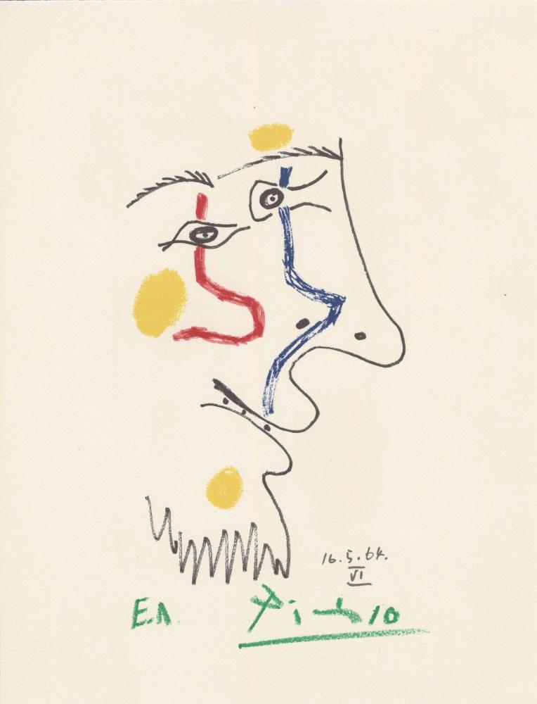 PABLO PICASSO [d'apres] - May 16, 1964 #6 - Original color silkscreen & lithograph