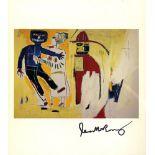 JEAN-MICHEL BASQUIAT - Bombero - Color offset lithograph