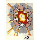 ROY LICHTENSTEIN - Explosion - Color offset lithograph