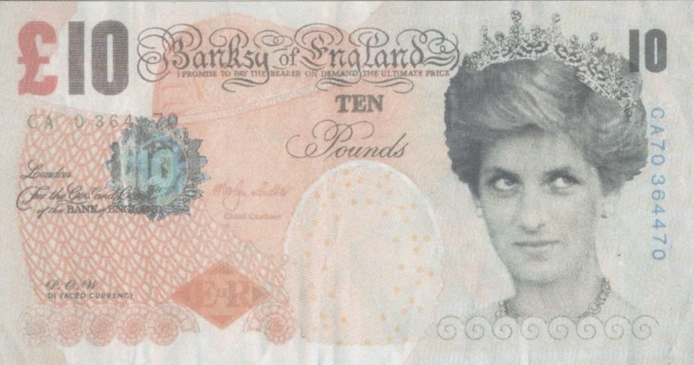 BANKSY [d'apres] - British £10 Note, Di-faced Tenner - Color print