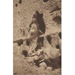 EDWARD S. CURTIS - At the Portal - Original vintage sepia toned photogravure