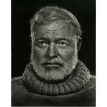 YOUSUF KARSH - Ernest Hemingway - Original vintage photogravure
