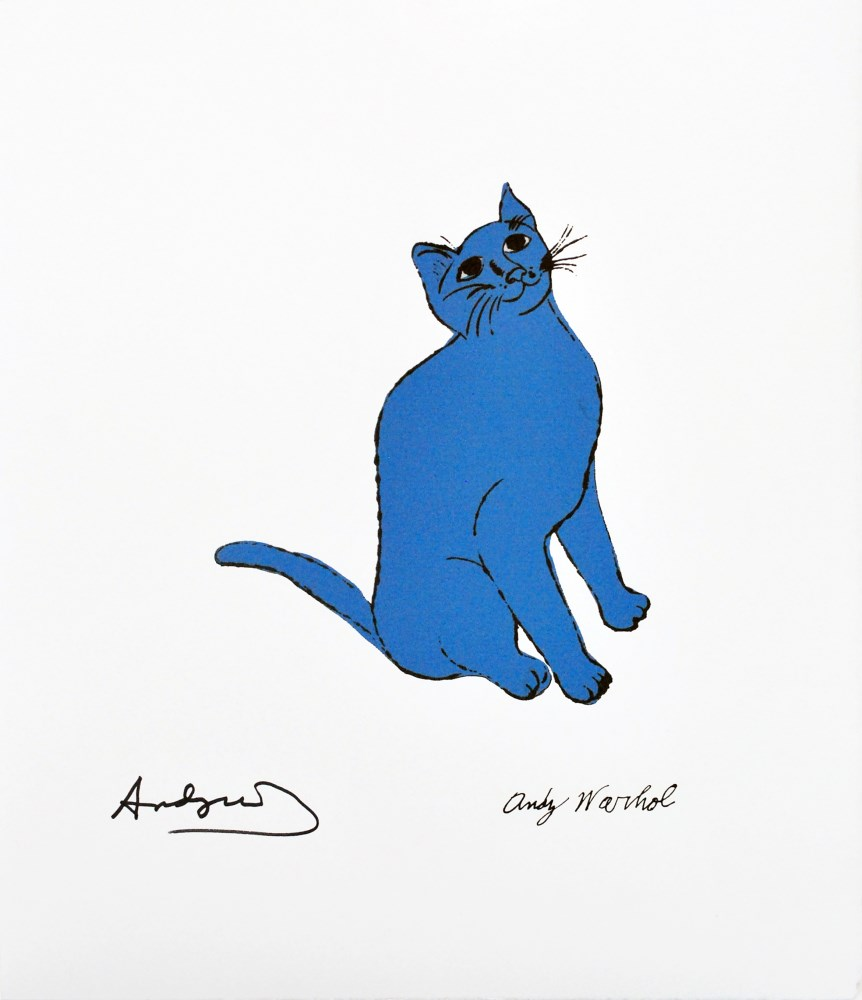 ANDY WARHOL [d'apres] - One Blue Pussy - Color lithograph
