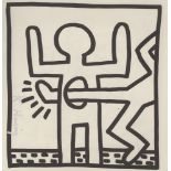 KEITH HARING - Empty Stomach - Lithograph