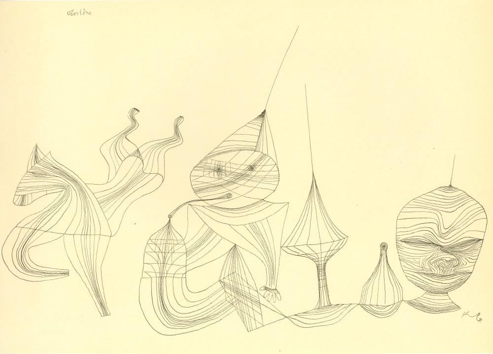 "PAUL KLEE - Overtones [""Obertone""] - Original lithograph"
