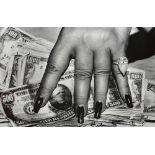 HELMUT NEWTON - Fat Hand and Dollars - Original photolithograph