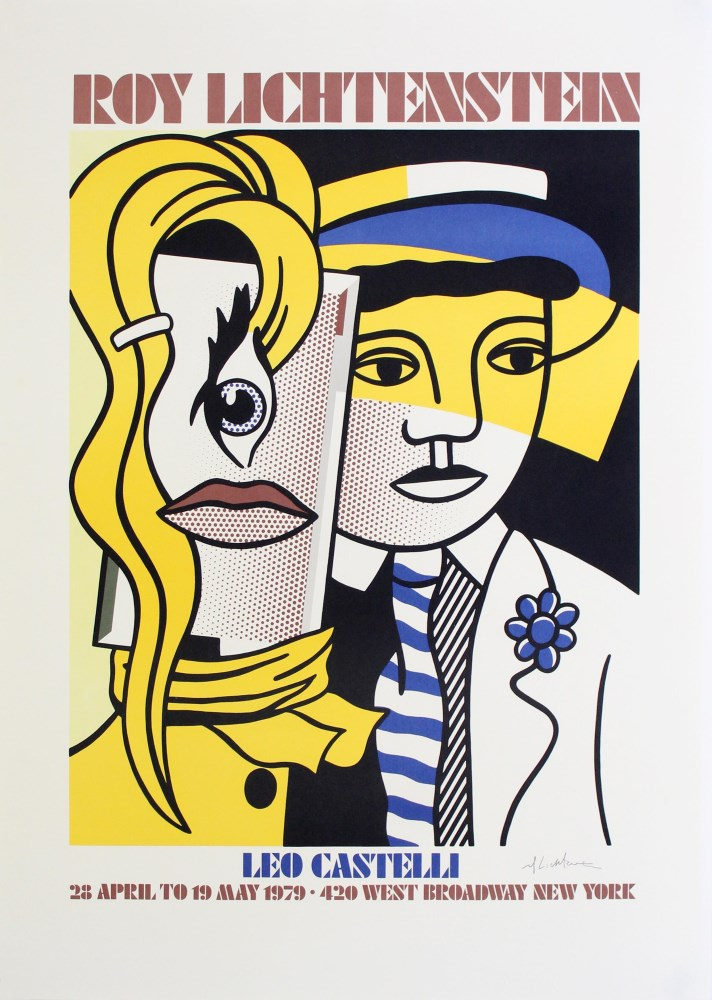 ROY LICHTENSTEIN - Stepping Out - Color lithograph