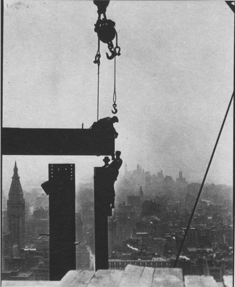 LEWIS HINE - Empire State Building: Ball & Beam - Original photogravure