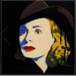 ANDY WARHOL - Ingrid Bergman: With Hat (10) - Color offset lithograph