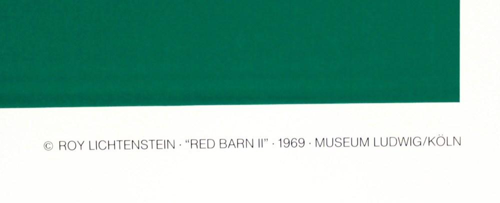 ROY LICHTENSTEIN - Red Barn II - Color silkscreen - Image 3 of 3