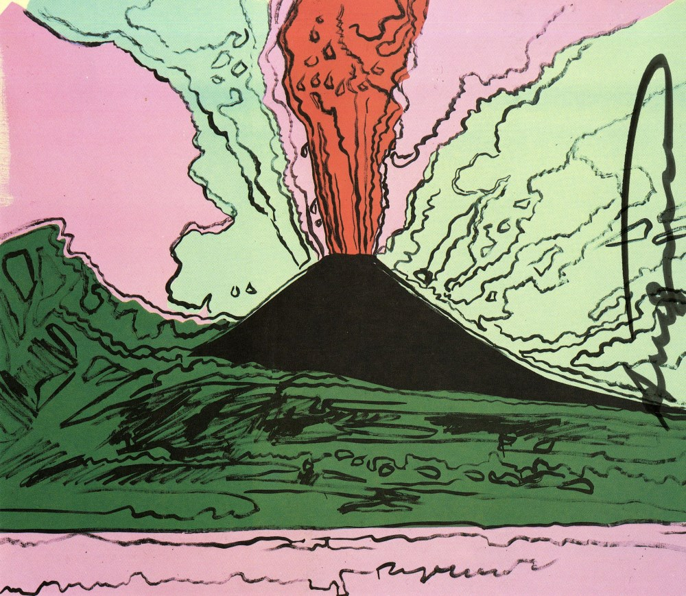 ANDY WARHOL - Vesuvius #03 - Color offset lithograph