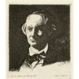 EDOUARD MANET - Charles Baudelaire de Face III - Etching