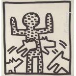 KEITH HARING - Dog Hoop - Lithograph