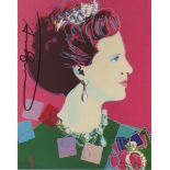 ANDY WARHOL - Queen Margrethe (#4) - Color offset lithograph