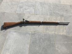 Belgique: Fusil de traite liégeois du modèle du mousqueton de cavalerie français modèle 1777 utilisé