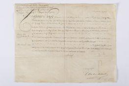 France, Louis XV: Lot d'une lettre signée Louis XV et d'une lettre signée Louis XVIII. Lot de deux