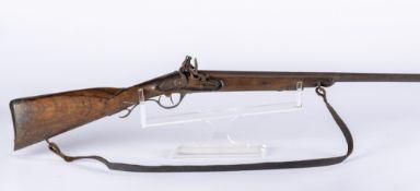 Belgique, XIXème siècle: Fusil à silex modifié pour la chasse. Fusil à silex de chasse issus du