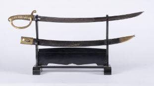France, Louis-Philippe: Sabre briquet de la Garde Nationale d'époque Louis-Philippe. Sabre briquet